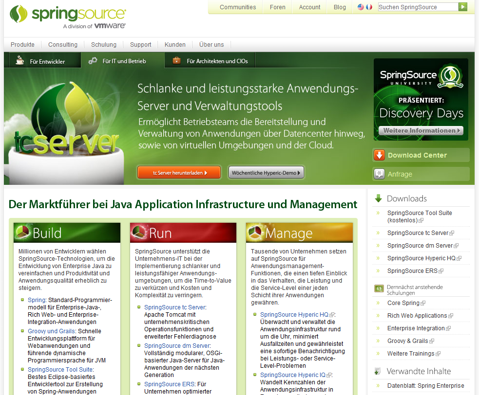 SpringSource Corporate Translated to German