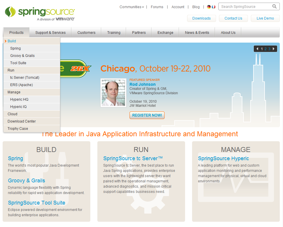 SpringSource Corporate Website