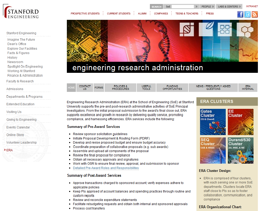 Stanford School of Engineering Migration